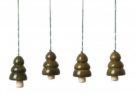 tree bells - dark green