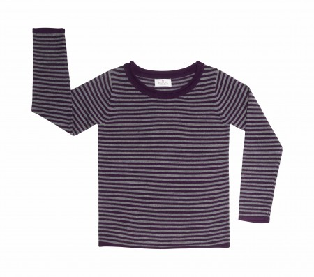 long sleeved striped wool jumper