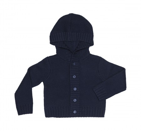 knitted baby wool cardigan
