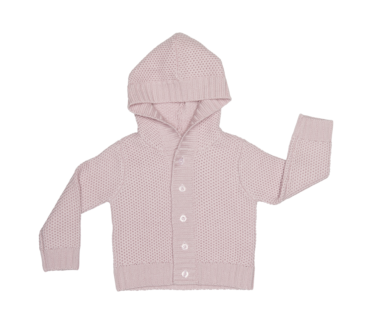 28a0cd6fc Knitted baby wool cardigan with hood - BOCKCph