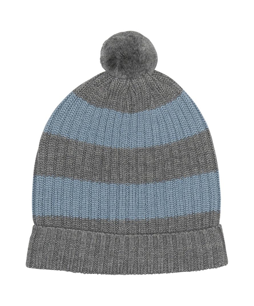 13b45be1ea5 Knitted rib hat with pom pom - BOCKCph