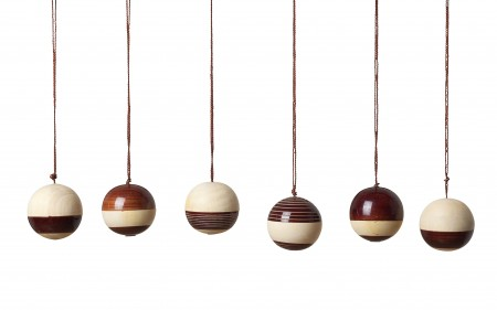 baubles - brown