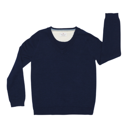 drenge v-hals sweater - organic cotton