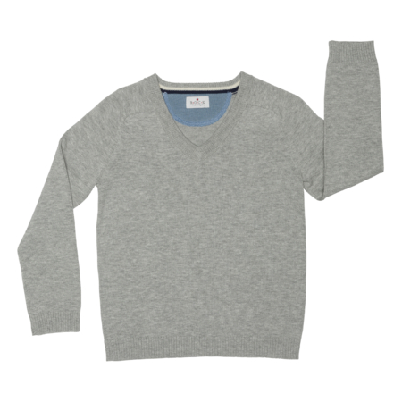 boys v-neck jumper - organic cotton
