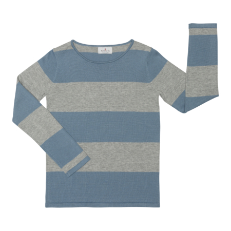 unisex jumper with stripes - organic cotton