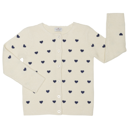 cardigan with heart embroidery - organic cotton