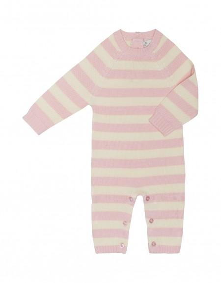 striped long sleeve romber - organic cotton