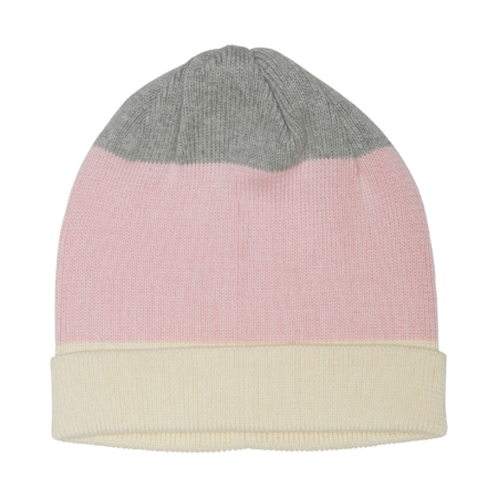 striped rib hat in organic cotton