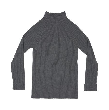 classic rib wool sweater