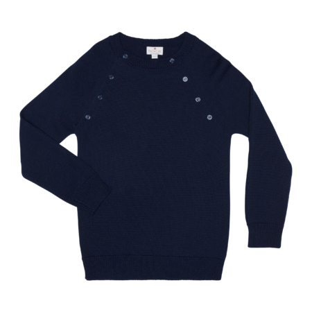 wool sweater with buttons