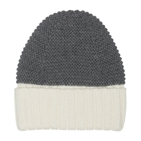 two colored wool hat