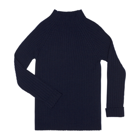 classic rib wool sweater